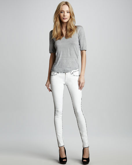 Elon Painted-Seam Skinny Jeans
