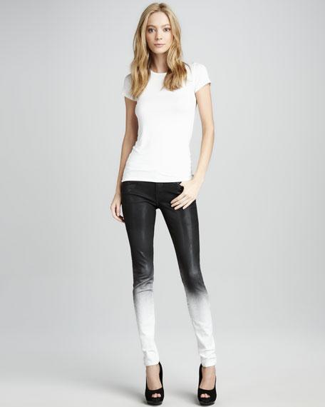 Elon Ghostwind Spray-Coat Skinny Jeans