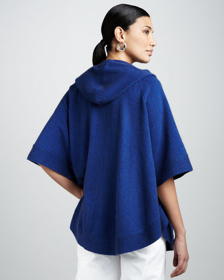Short-Sleeve Hooded Poncho