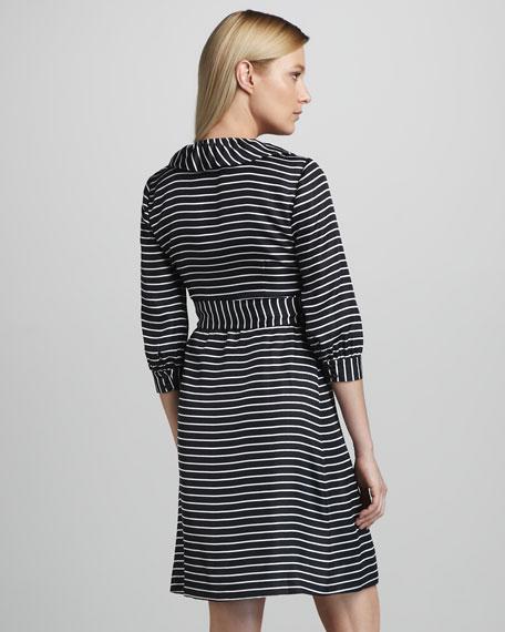 daniella striped wrap dress