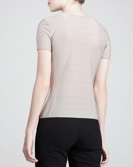 V-Neck Short-Sleeve Sweater