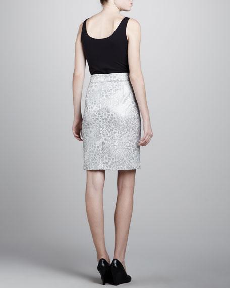 Floral Damier Skirt