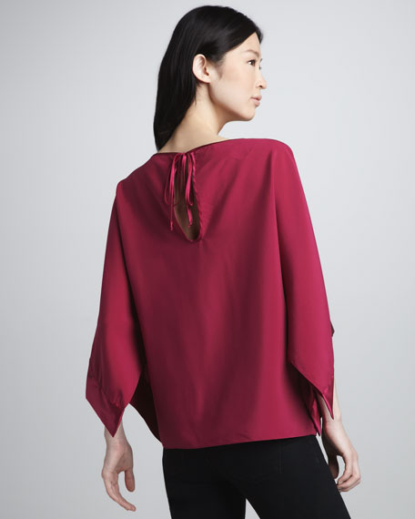 Pippa Sheer-Top Long-Sleeve Blouse