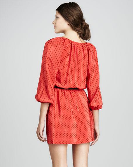 Renee Belted Blouson Dress
