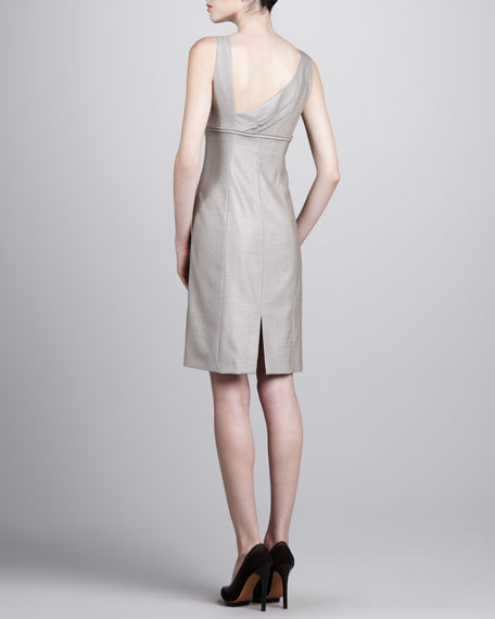 Fitted Twill Dress, Wheat