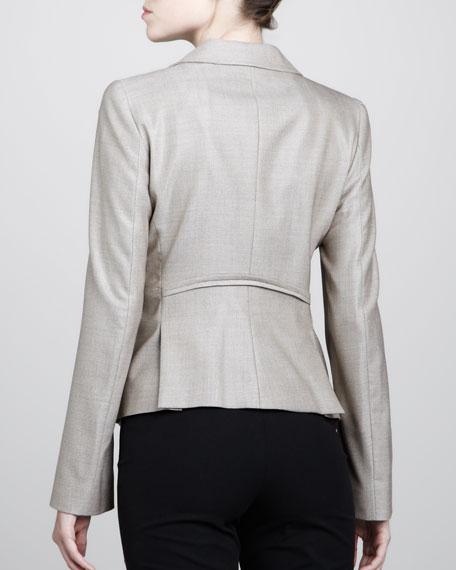 Arced-Waist Jacket, Wheat
