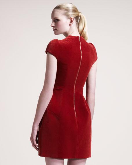 Velvet Cap-Sleeve Dress