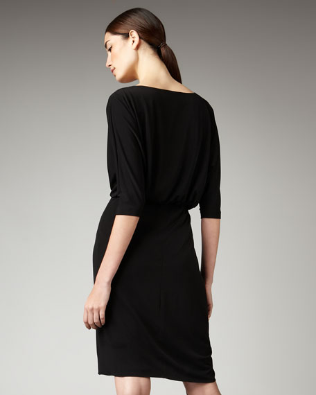 Draped V-Neck Dress, Women's