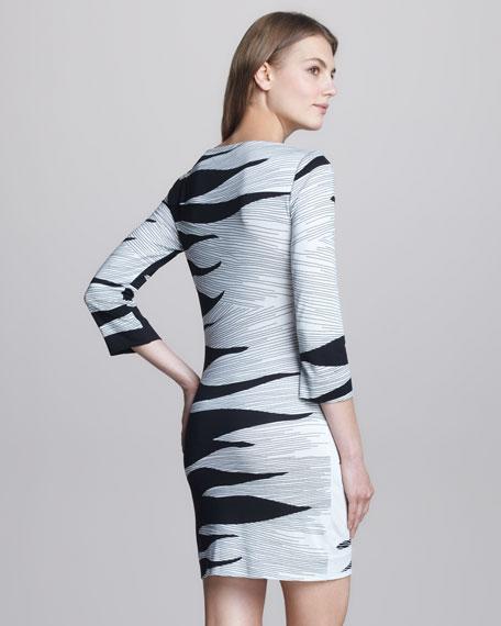 Ruri Flame-Print Dress