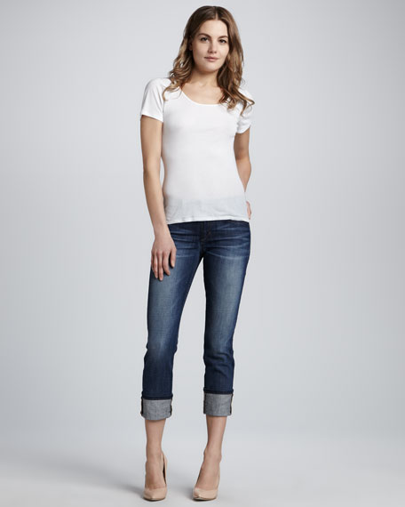 Clean Cuffed Cropped Easy Jeans