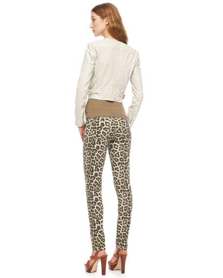9d64423fe699 MICHAEL Michael Kors Leopard-Print Skinny Jeans, Women's