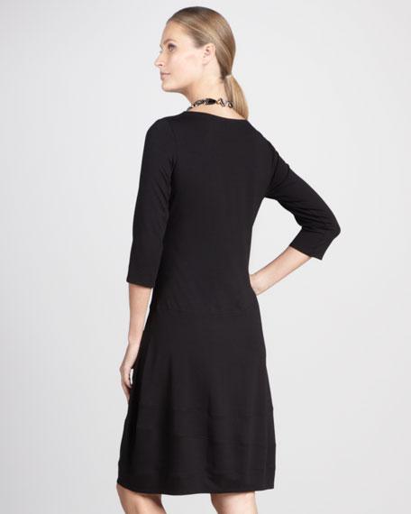 Scoop-Neck Jersey Dress, Petite