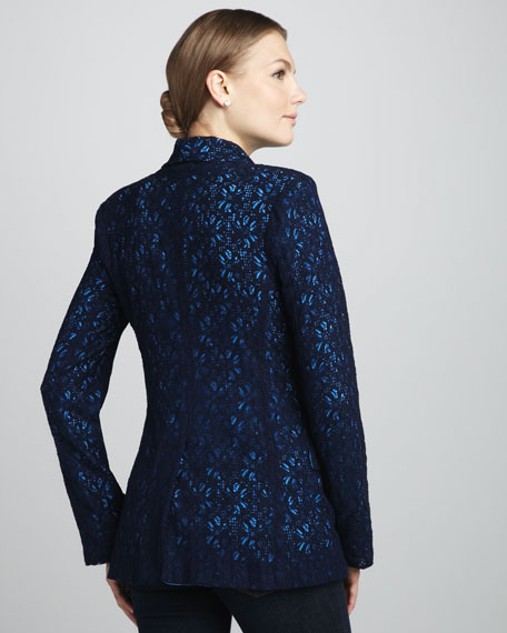 Lace Contrast Blazer
