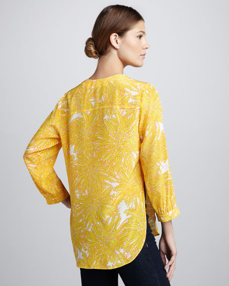 Highliner Printed Silk Blouse
