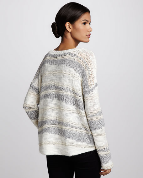 Simona Striped Knit Sweater
