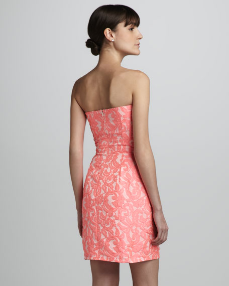 Jacquard Strapless Dress