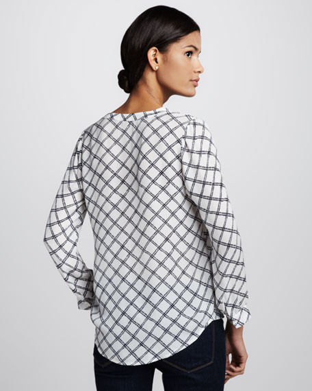 Lerona Printed Silk Blouse