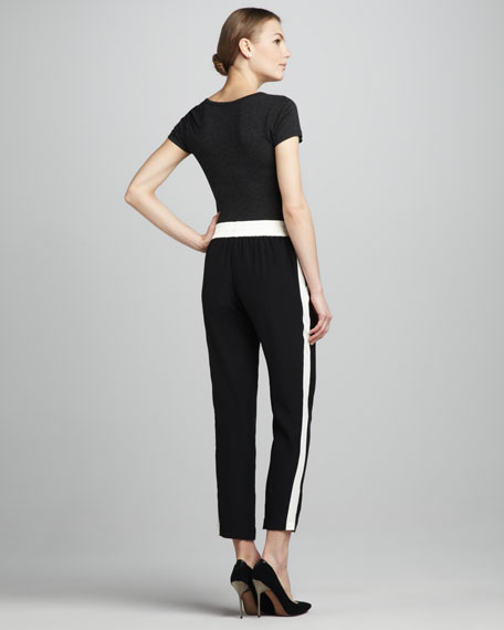 Silk Drawstring Pants
