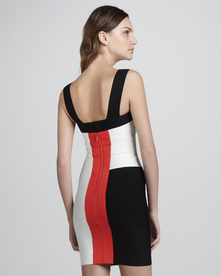Mondrian Colorblock Bandage Dress