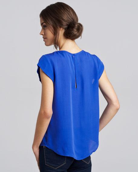 Rancher Short-Sleeve Blouse, Nile Blue