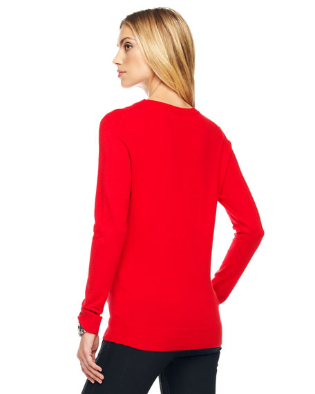 Lace-Up-Neck Pullover