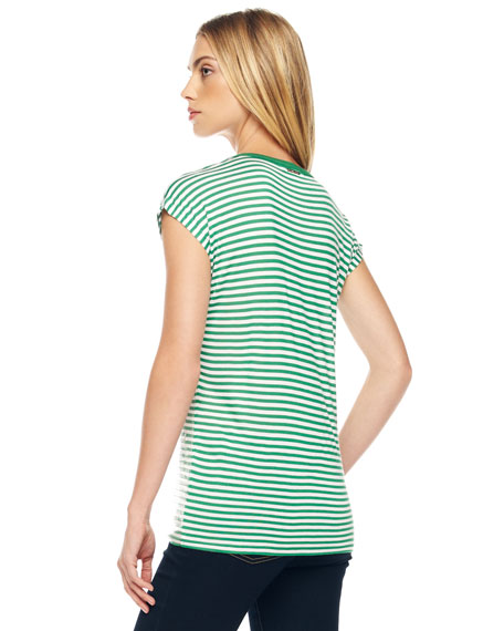 Striped Sequined Tee, Women's