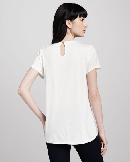 Mira Pleated Jersey Top