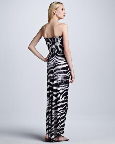 Twist-Waist Maxi Dress