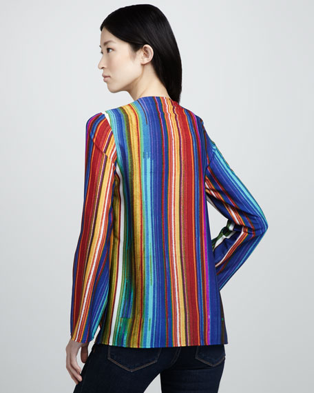 Striped Wooden-Bead Tunic