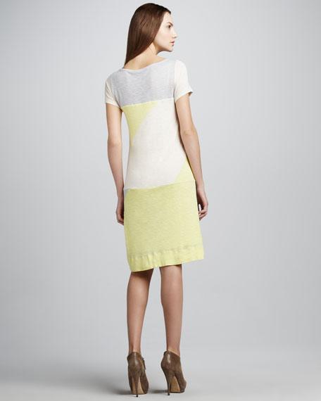 Tanya Colorblock Slub Dress