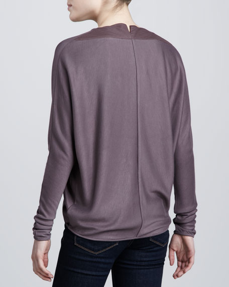 Wrap-Front Dolman Top, Sparrow