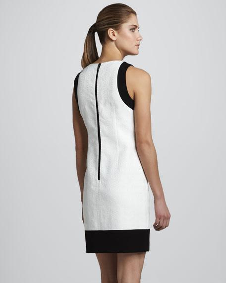 Beaded Jacquard Dress