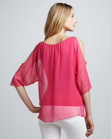 Trampoline Sheer-Overlay Top