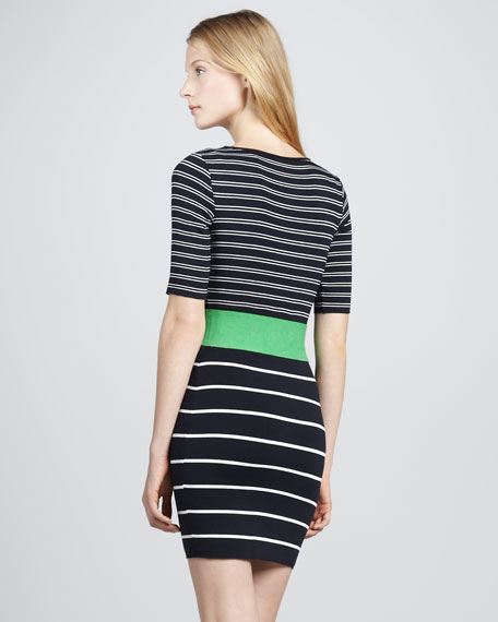 Synchronized Diving Striped Dress