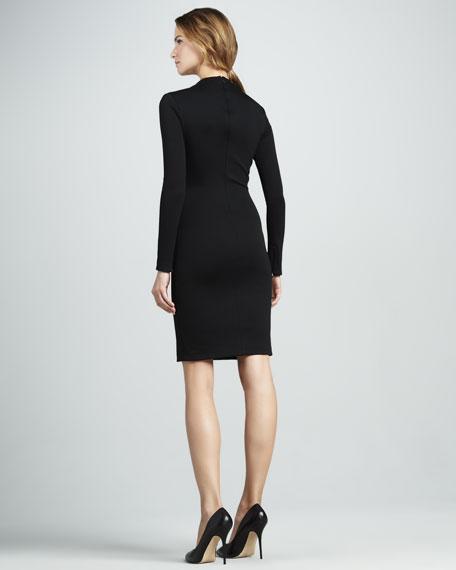 Slim Long-Sleeve Ponte Dress