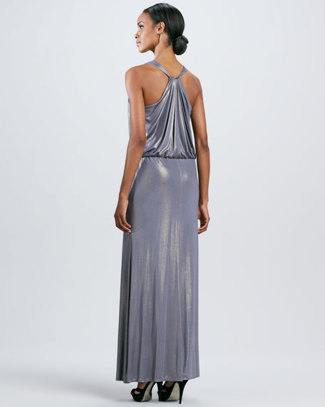 Blouse-Top V-Neck Gown