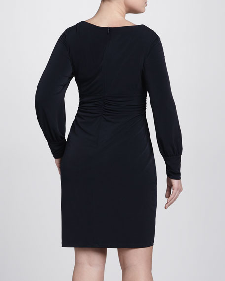 Long-Sleeve Sweetheart Dress, Women's