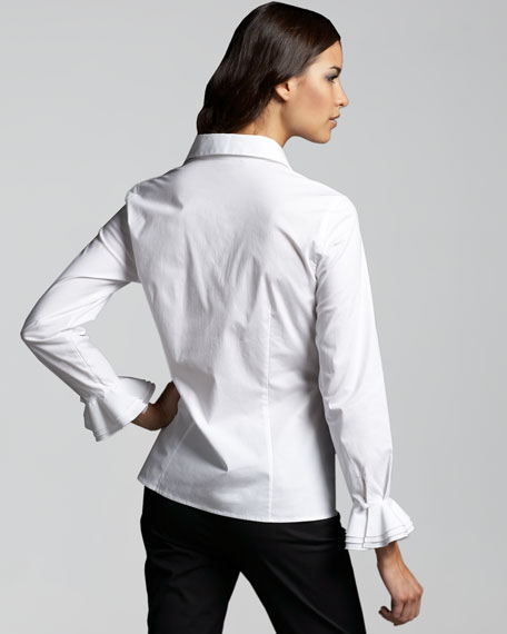 Ruffle-Detail Blouse, Women's