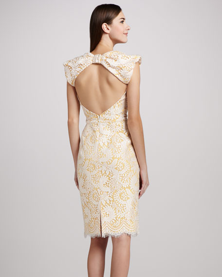 Lace Cocktail Dress with Open Back