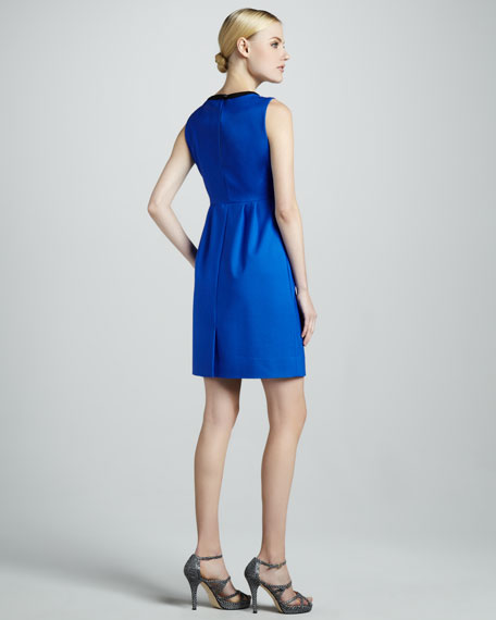 arie sleeveless colorblock dress