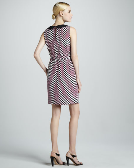 neal sleeveless print dress