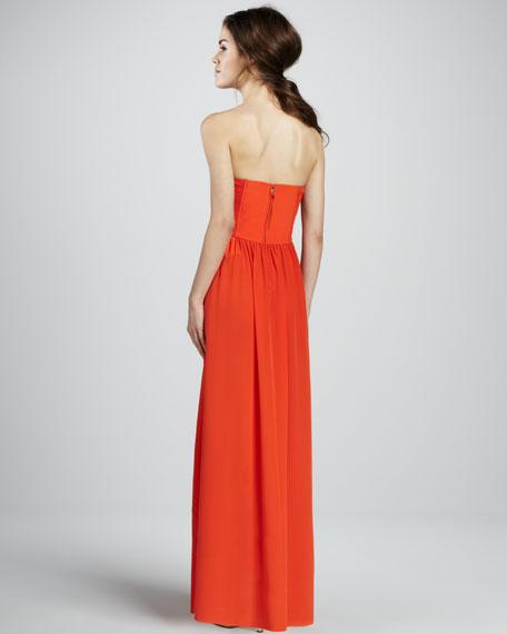 Silk Strapless Corset Gown