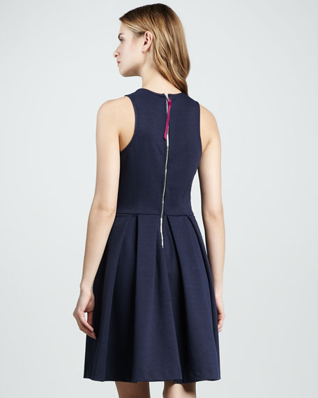 Pleated Keyhole Dress