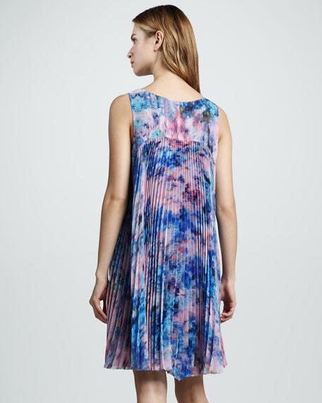 Aurora Floral-Print Silk Shift Dress