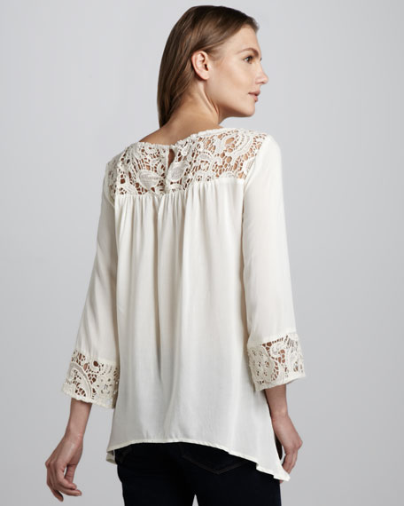 Josephina Crochet-Detail Top