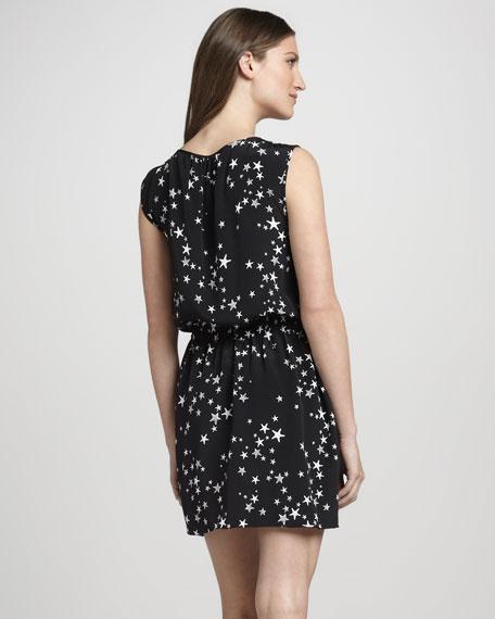 Sleeveless Star-Print Dress