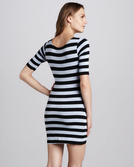 Delhpi Striped Fitted Dress