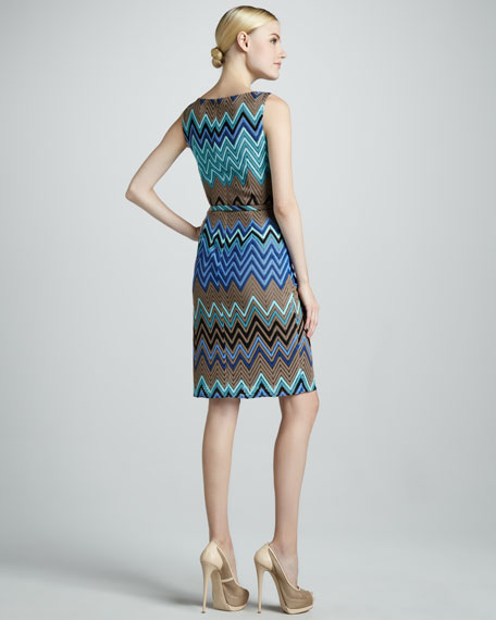Zigzag Printed Dress