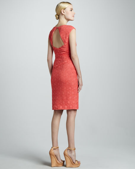 Sleeveless Dress with Open Back