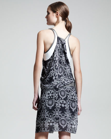 Medallion-Print Rubber Dress